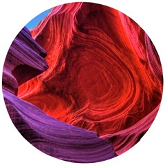 Flower Purple Petal Red Color Pink Hdr Magenta Lowerantelopecanyon Antelopecanyon Macro Photography Wooden Puzzle Round by Vaneshart