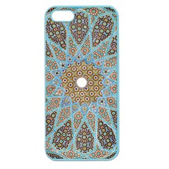 Vintage Flower Floral Pattern Line Tile Circle Art Design Symmetry Mosaic Culture Dome Shape Persian Apple Seamless Iphone 5 Case (color)