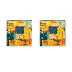 Abstract Painting Acrylic Paint Art Artistic Background Cufflinks (square)
