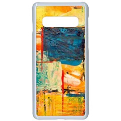 Abstract Painting Acrylic Paint Art Artistic Background Samsung Galaxy S10 Seamless Case(white)