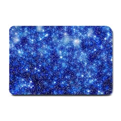 Blurred Star Snow Christmas Spark Small Doormat  by HermanTelo