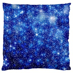 Blurred Star Snow Christmas Spark Large Flano Cushion Case (two Sides)