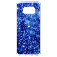 Blurred Star Snow Christmas Spark Samsung Galaxy S8 White Seamless Case