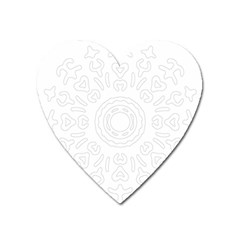 Circle Vector Background Abstract Heart Magnet by Bajindul