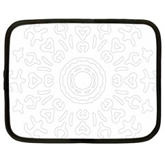 Circle Vector Background Abstract Netbook Case (xl) by Bajindul