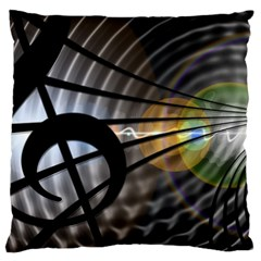 Music Treble Clef Minimal Standard Flano Cushion Case (two Sides) by Alisyart