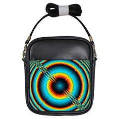 Art Artwork Fractal Digital Art Girls Sling Bag by Wegoenart