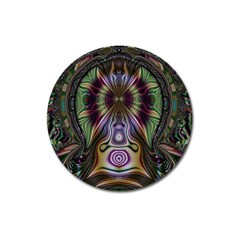 Digital Art Fractal Artwork Magnet 3  (round) by Wegoenart