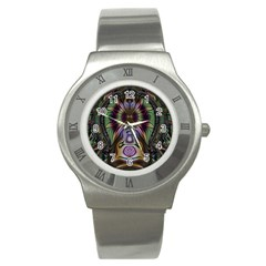 Digital Art Fractal Artwork Stainless Steel Watch by Wegoenart