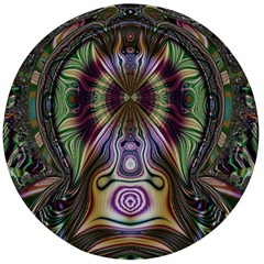 Digital Art Fractal Artwork Wooden Bottle Opener (round)