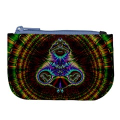 Artwork Fractal Digital Art Large Coin Purse by Wegoenart