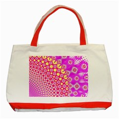 Digital Arts Fractals Futuristic Pink Classic Tote Bag (red) by Wegoenart