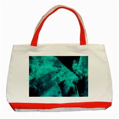 Background Texture Pattern Blue Classic Tote Bag (red) by Wegoenart
