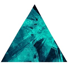 Background Texture Pattern Blue Wooden Puzzle Triangle