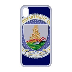Flag Of United States Department Of Agriculture Iphone Xr Seamless Case (white) by abbeyz71