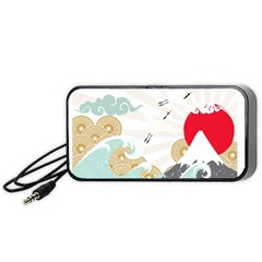 Mountain Sun Japanese Illustration Portable Speaker