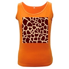Animal Print Giraffe Patterns Women s Dark Tank Top by Vaneshart