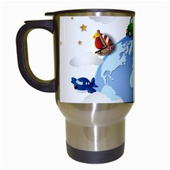 Earth Rocket Vector Earth Travel Mugs (white)