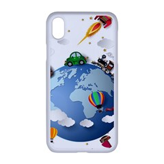 Earth Rocket Vector Earth Iphone Xr Seamless Case (white)