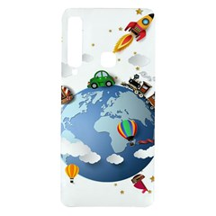 Earth Rocket Vector Earth Samsung Galaxy A9 Tpu Uv Case
