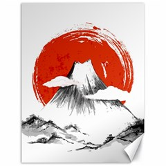 Mount Fuji Mountain Ink Wash Painting Canvas 18  X 24