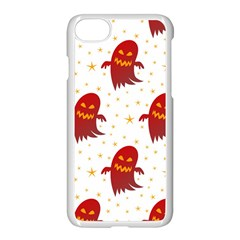 Ghost Halloween Drawing Flower Leaf Iphone 7 Seamless Case (white)