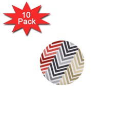 Abstract Colorful Geometric Pattern 1  Mini Buttons (10 Pack)