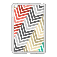 Abstract Colorful Geometric Pattern Apple Ipad Mini Case (white)
