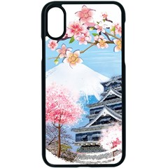 Japan National Cherry Blossom Festival Japanese Iphone X Seamless Case (black)