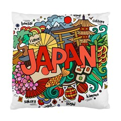 Earthquake And Tsunami Drawing Japan Illustration Standard Cushion Case (two Sides) by Vaneshart