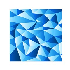 Triangles Abstract Blue Small Satin Scarf (square)