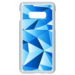 Triangles Abstract Blue Samsung Galaxy S10e Seamless Case (white) by Vaneshart