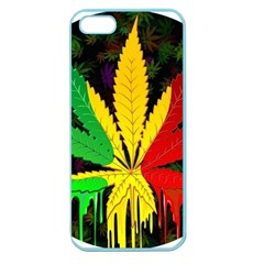 Cannabis Leaf Color Apple Seamless Iphone 5 Case (color)