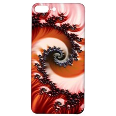 Abstract Fractal Patterns Red Iphone 7/8 Plus Soft Bumper Uv Case