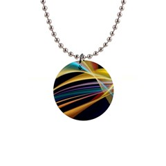 Lines Stripes Colorful Abstract Background Color 1  Button Necklace