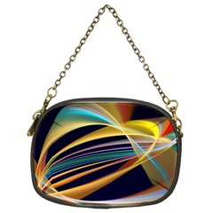Lines Stripes Colorful Abstract Background Color Chain Purse (two Sides)