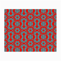Seamless Geometric Pattern In A Red Small Glasses Cloth