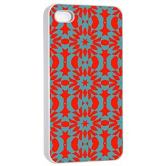 Seamless Geometric Pattern In A Red Iphone 4/4s Seamless Case (white)