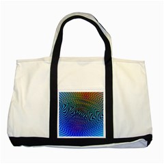 Abstract Circles Lines Colorful Two Tone Tote Bag