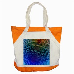 Abstract Circles Lines Colorful Accent Tote Bag by Vaneshart