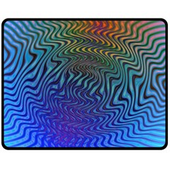 Abstract Circles Lines Colorful Fleece Blanket (medium)  by Vaneshart