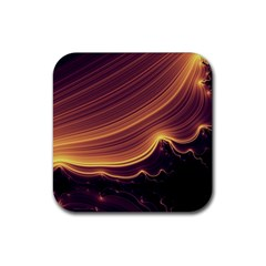 Lines Stripes Background Abstract Rubber Square Coaster (4 Pack)
