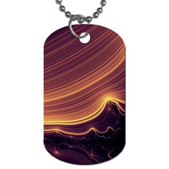 Lines Stripes Background Abstract Dog Tag (one Side) by Vaneshart