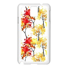 Watercolor Painting Autumn Illustration Autumn Tree Samsung Galaxy Note 3 N9005 Case (white) by Vaneshart