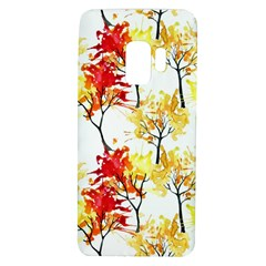 Watercolor Painting Autumn Illustration Autumn Tree Samsung Galaxy S9 Tpu Uv Case by Vaneshart