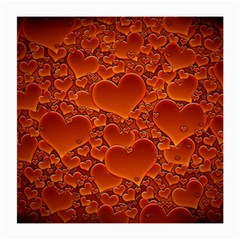 Heart Orange Texture Many Medium Glasses Cloth by Vaneshart
