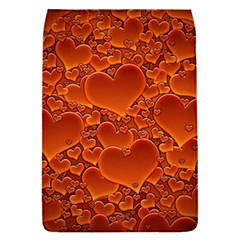 Heart Orange Texture Many Removable Flap Cover (s)