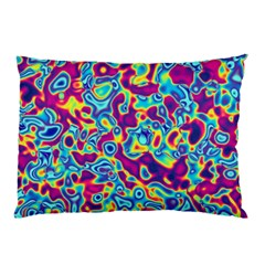 Ripple Motley Colorful Spots Abstract Pillow Case (two Sides) by Vaneshart