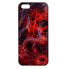 Art Space Abstract Red Line Iphone 5 Seamless Case (black)