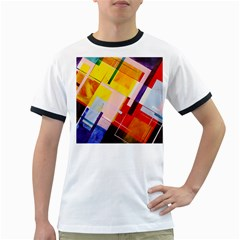 Abstract Lines Shapes Colorful Ringer T